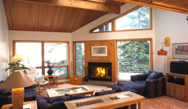 Suite living room at Superior Shores Resort.
