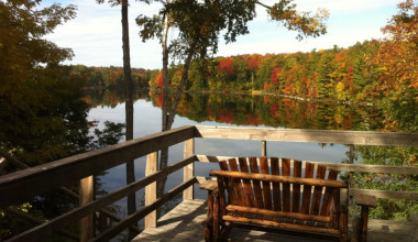 Deck view at Sleeping Bear Resort.