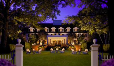 Exterior view of The Woodstock Inn & Resort.