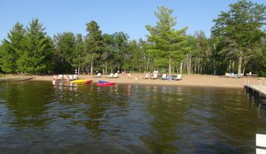 The beach at Boyd Lodge.
