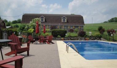Outdoor pool at Fieldstone Farm.