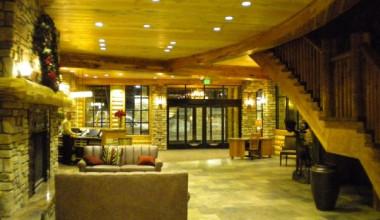 Lobby area at Grand Lodge at Brian Head.