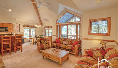 Rental interior at Summit Vacations.