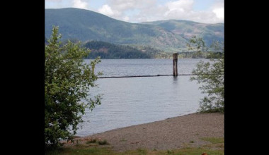 Lake view at Honeymoon Bay Lodge & Retreat.