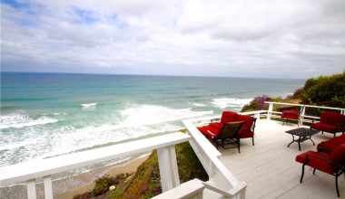 Rental deck at Vacation Rentals by McLain Properties.