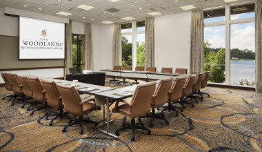 Meeting room at The Woodlands Resort and Conference Center.