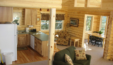 Cabin Interior at Pehrson Lodge Resort