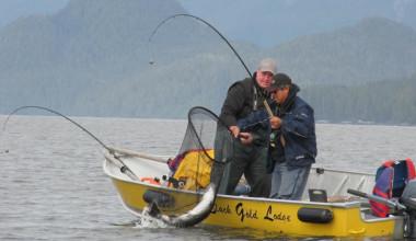 Fishing at Black Gold Lodge.