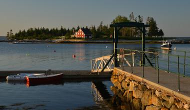 Dock view at Newagen Seaside Inn.