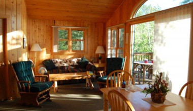 Interior view of Elbow Lake Lodge.