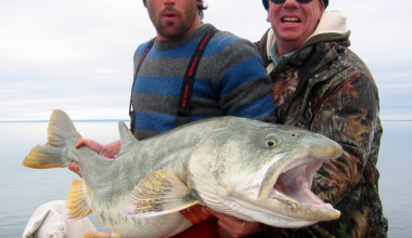 Fishing at Plummer's Arctic Fishing Lodges.