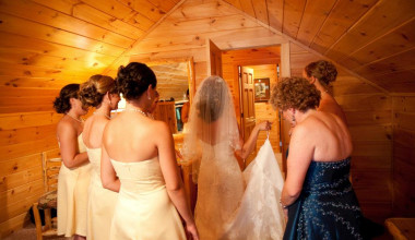 Wedding at Mountain Springs Lake Resort.