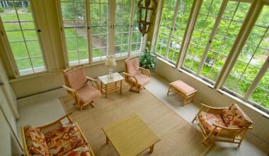 Porch view at Cortland Alumni House.