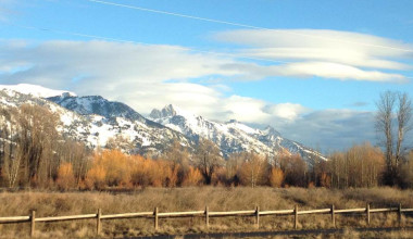 Mountain view at The Inn at Jackson Hole.
