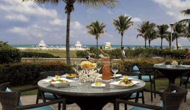 Dining at The Ritz-Carlton, South Beach.