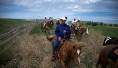Horseback riding at Colorado Cattle Company Ranch.