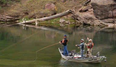 Fishing at Flaming Gorge Lodge.