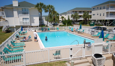 Outdoor pool at Sandpiper Cove.