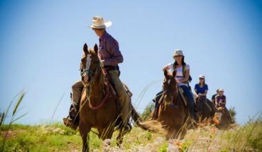 Horseback riding at Zion Mountain Ranch.