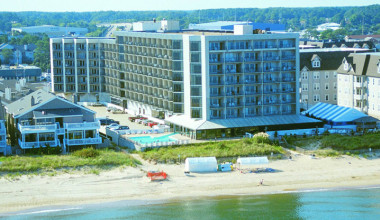 Exterior view of Virginia Beach Resort Hotel.