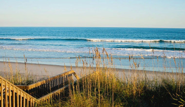 Beach view at Topsail Realty.