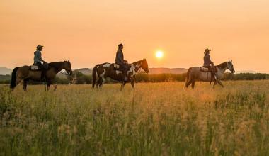 Horseback riding at Triangle X Ranch.