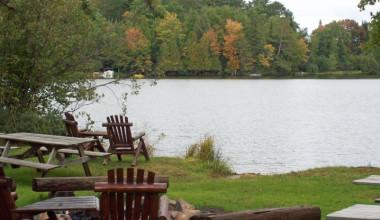 Lake view at Wild Eagle Lodge.