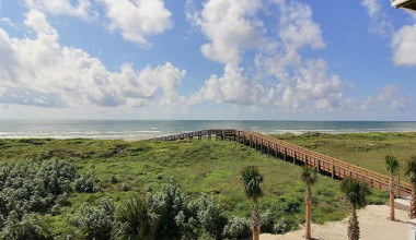 View of beach at Port Aransas Escapes.