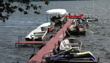 Dock at Radtke's Sabinois Point Resort.