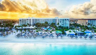 Exterior view of Aruba Marriott Resort and Stellaris Casino.