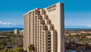 Exterior view of Island Hotel Newport Beach.