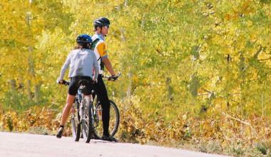 Biking at Aspen View Lodge.