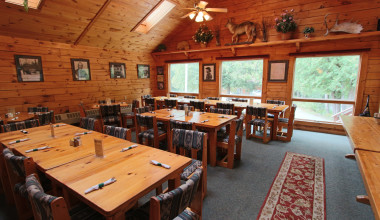 Dining at Northern Outdoors.