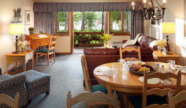 Guest accommodations at Woodloch Resort