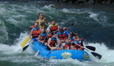 River rafting at Black Butte Ranch.