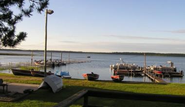 Lake view at Wishbone Resort.
