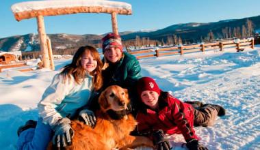 Family at Vista Verde Ranch.
