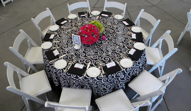 Wedding table at Emerson Resort & Spa.