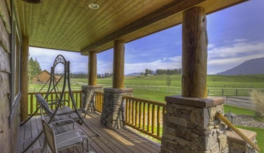 Rental porch at Glacier Park Vacation Rentals.