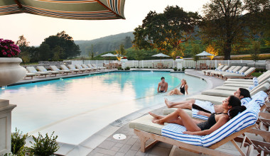 Outdoor pool at Omni Bedford Springs Resort.