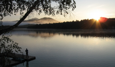 Lake view at Golden Arrow Lakeside Resort.
