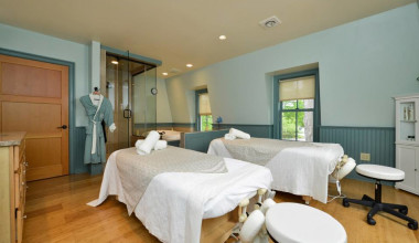 Spa massage tables at Bar Harbor Inn & Spa.