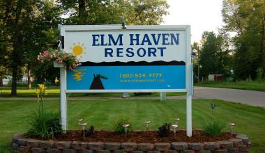 Elm Haven Resort sign.