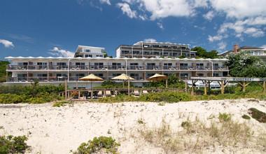 The beach at Wavecrest Resort.
