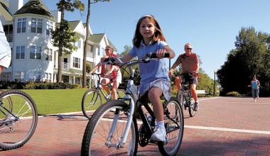 Biking at The Osthoff Resort.