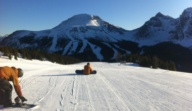 Snow boarding at Inns of Banff.