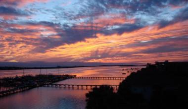 Beautiful Sunset at Pirates' Bay Guest Chambers