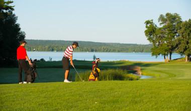Golfing at Sugar Lake Lodge.