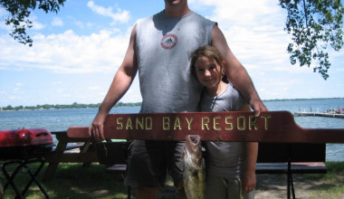 Fishing at Sand Bay Resort.