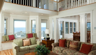 Vacation rental living room at Bald Head Island Limited.